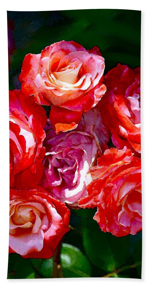 Floral Beach Towel featuring the photograph Rose 124 by Pamela Cooper