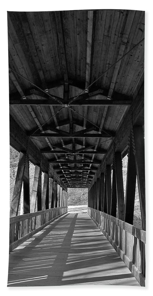 Black And White Beach Towel featuring the photograph Roswell Bridge 1 by Denise Mazzocco