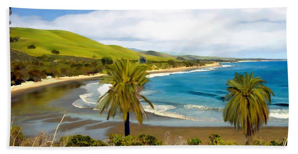 Ocean Beach Towel featuring the photograph Rufugio by Kurt Van Wagner