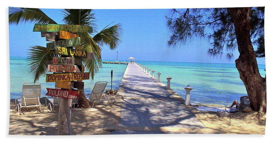 Cayman Beach Towel featuring the photograph Rum Point by Carey Chen
