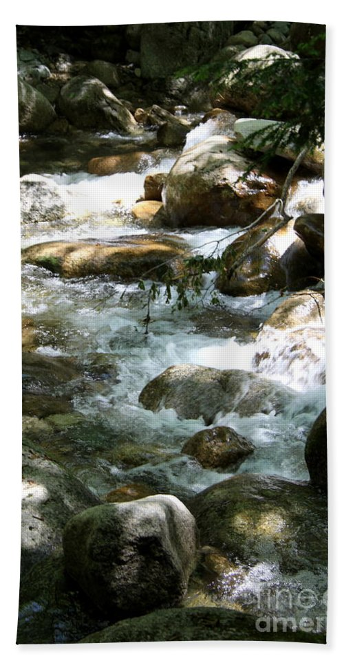 Running Water Beach Towel featuring the photograph Running Over Rocks by Christiane Schulze Art And Photography