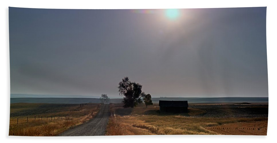 Beauty Beach Towel featuring the photograph Rural Montana Sunrise by Leland D Howard