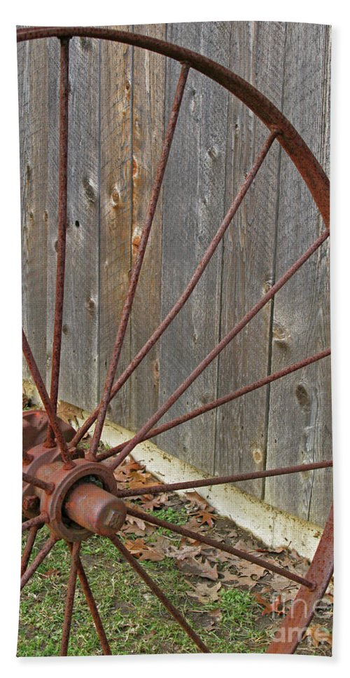Relic Beach Towel featuring the photograph Rural Relics by Ann Horn