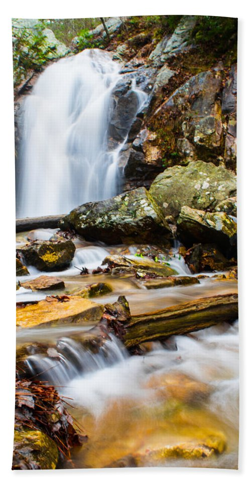 Peavine Falls Beach Towel featuring the photograph Rushing Falls by Parker Cunningham