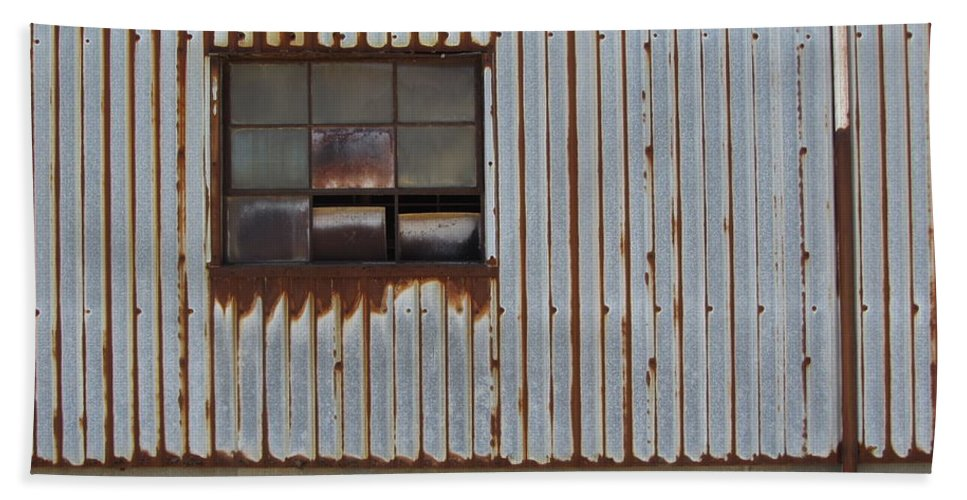 Rust Beach Towel featuring the photograph Rust And Window 1 by Anita Burgermeister