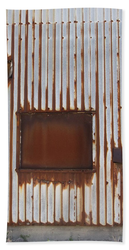 Rust Beach Towel featuring the photograph Rust And Window 3 by Anita Burgermeister