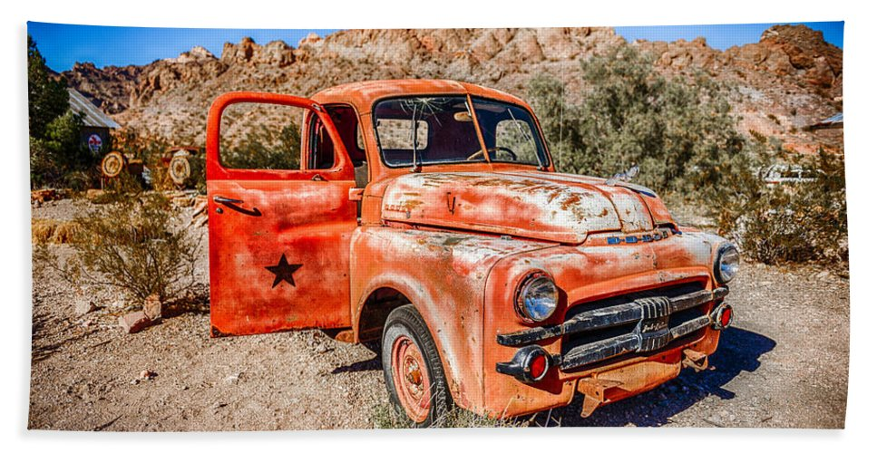 Rusted Beach Towel featuring the photograph Rusted Classics - Job Rated by Mark Robert Rogers