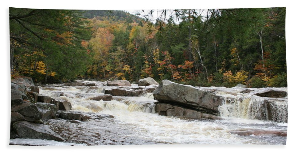 River Beach Towel featuring the photograph Saco River Rapids North Conway I by Christiane Schulze Art And Photography