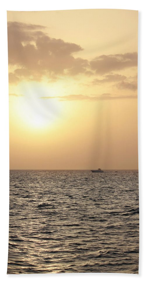Sunset Beach Towel featuring the photograph Sailing Into The Sunset by Melanie Lankford Photography