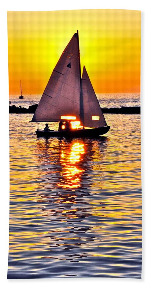 Sail Beach Towel featuring the photograph Sailing The Seven Seas by Frozen in Time Fine Art Photography