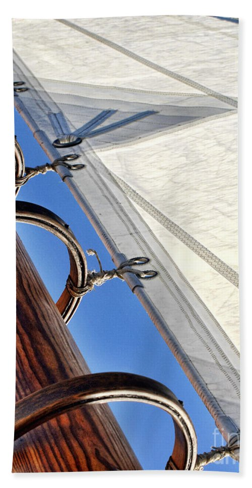 Mast Beach Towel featuring the photograph Sails Up by Claudia Kuhn