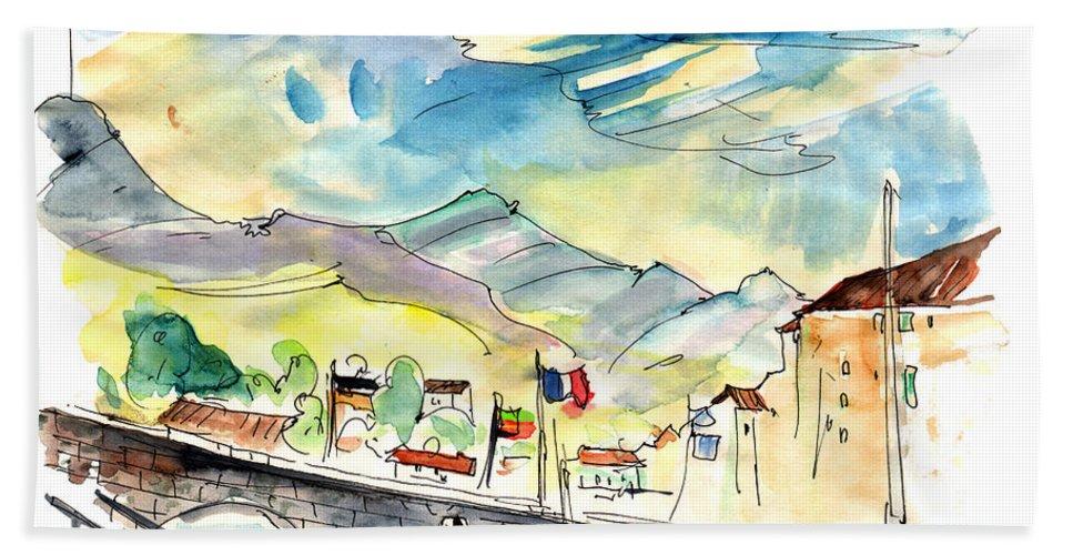 Travel Beach Towel featuring the painting Saint-Jean-de-Luz 03 by Miki De Goodaboom