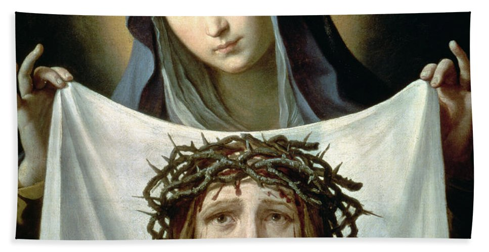 Son Of God Beach Towel featuring the painting Saint Veronica by Guido Reni