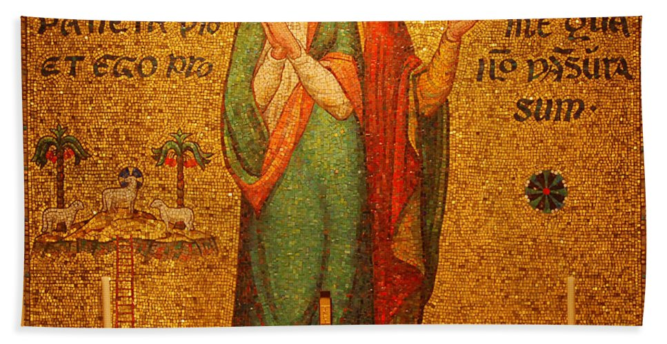Saints Beach Towel featuring the photograph Saints Perpetua And Felicitas Altar by Philip Ralley