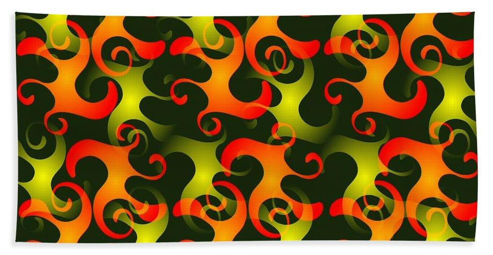 Abstract Beach Towel featuring the digital art Salamanders Dream by Anastasiya Malakhova