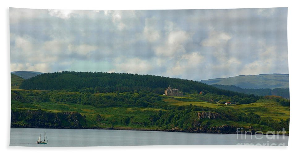 Sailing Beach Towel featuring the photograph Saling Northern Scotland 3 by Nancy L Marshall