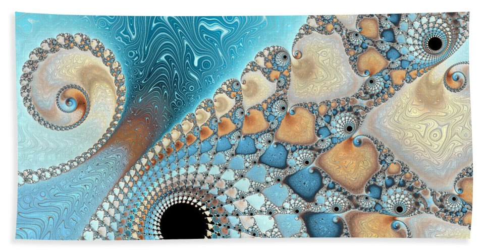 Background Beach Towel featuring the photograph Sand And Sea by Heidi Smith
