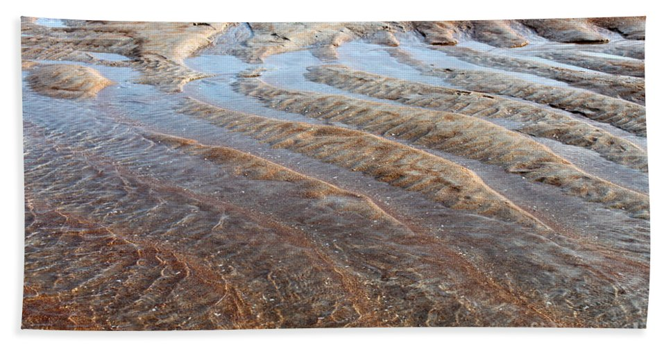 Landscape Beach Towel featuring the photograph Sand Art No. 2 by Todd Blanchard