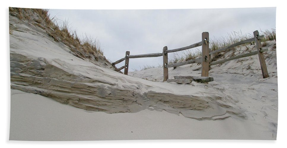 Dune Beach Towel featuring the photograph Sand Dune And Fence by Mother Nature