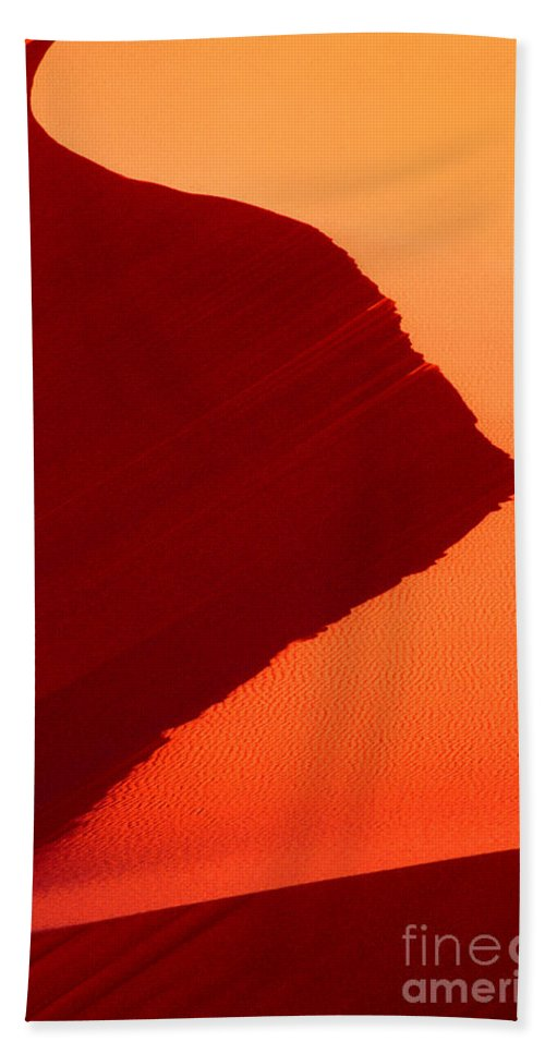 North America Beach Towel featuring the photograph Sand Dune Curves Coral Pink Sand Dunes Arizona by Dave Welling