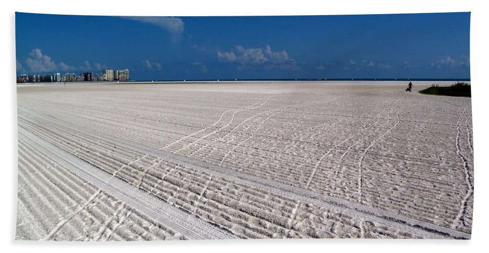 Landscape Beach Towel featuring the photograph Sand Trails by Katie Beougher
