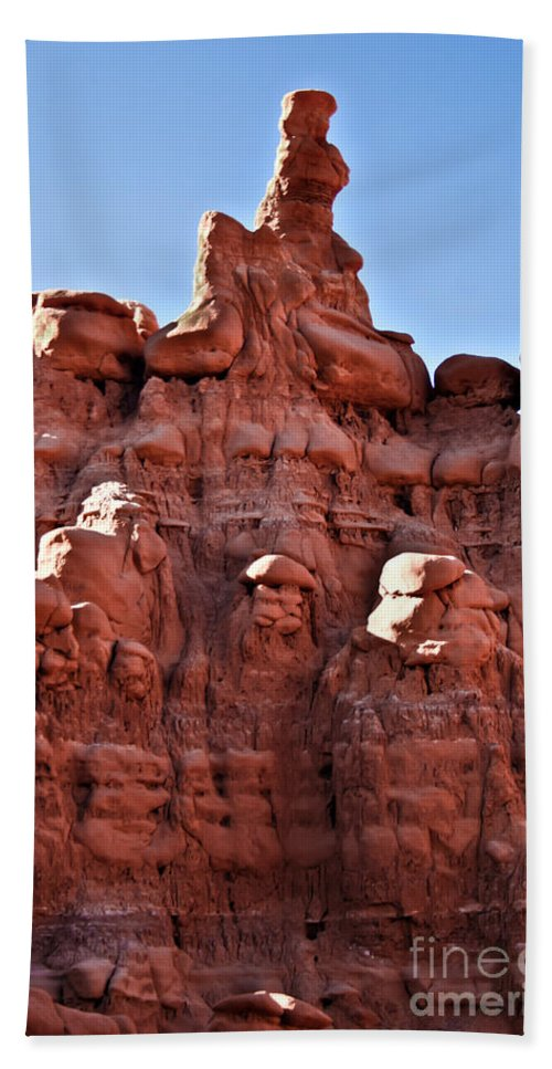 Goblin Valley Beach Towel featuring the photograph Sandstone Goblin Valley by Robert Bales