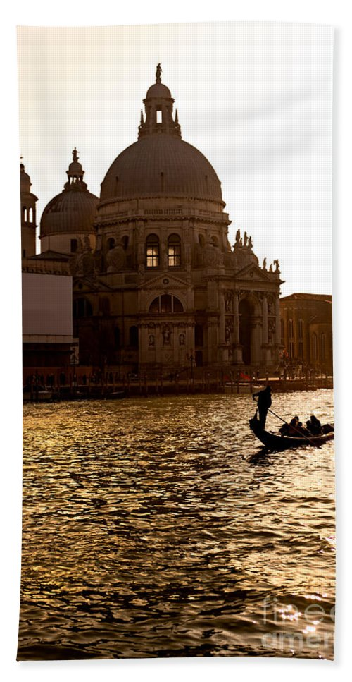 Balcony Beach Towel featuring the photograph Santa Maria Della Salute - Venice by Luciano Mortula