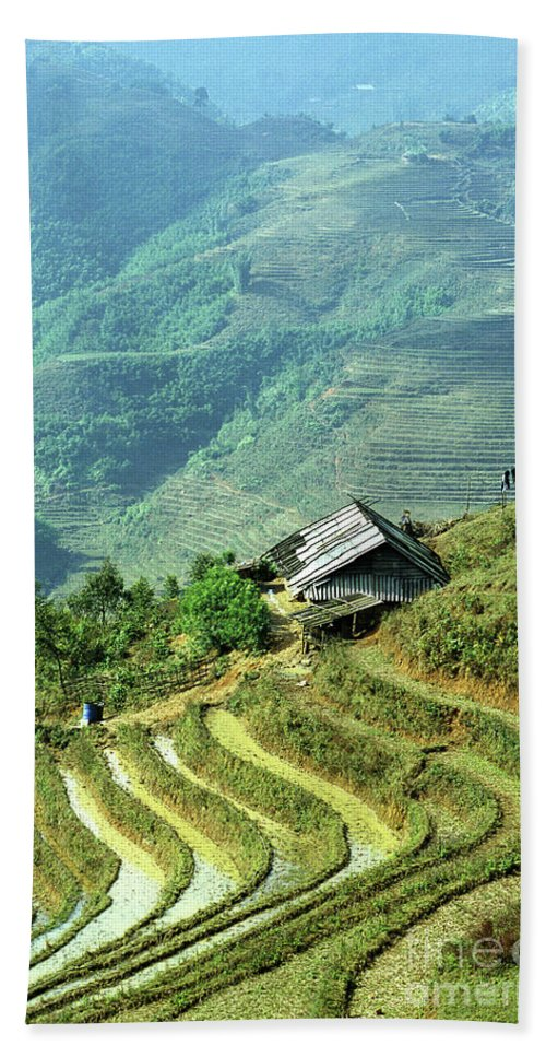Vietnam Beach Towel featuring the photograph Sapa Rice Fields by Rick Piper Photography