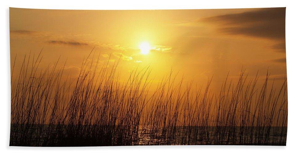 Florida Sunset Beach Towel featuring the photograph Sarasota Sunset's by Athala Bruckner