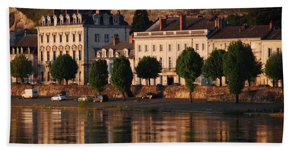 Saumur Beach Towel featuring the photograph Saumur Reflected by Eric Tressler