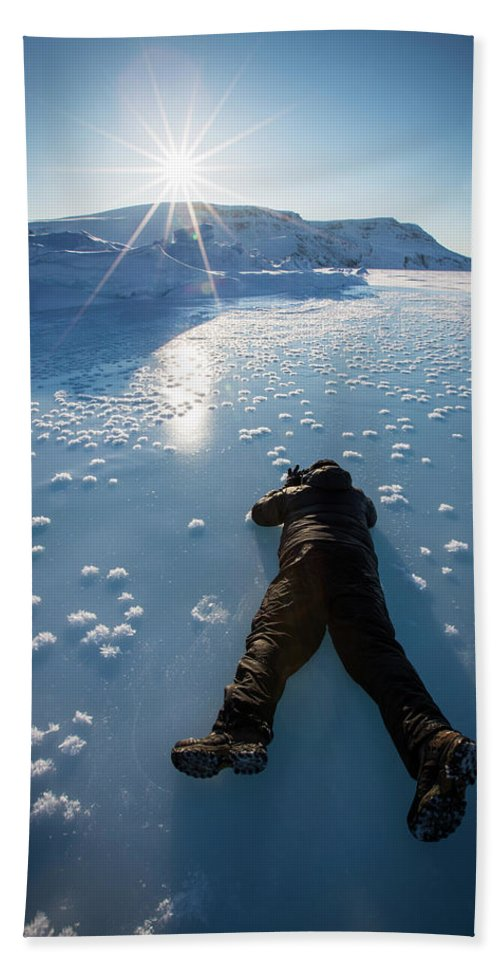 Cold Temperature Beach Towel featuring the photograph Scenes From Arctic Bay by Paul Zizka