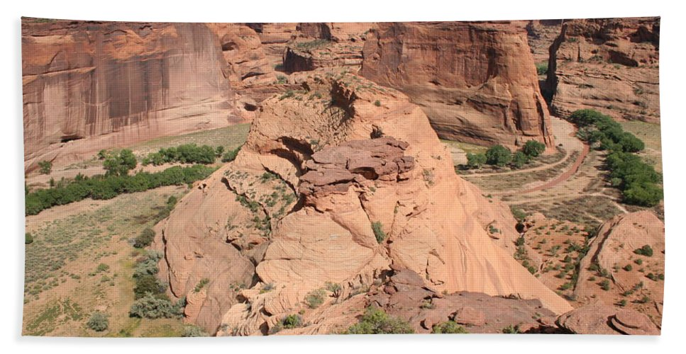 Canyon Beach Towel featuring the photograph Scenic Canyon De Chelly by Christiane Schulze Art And Photography