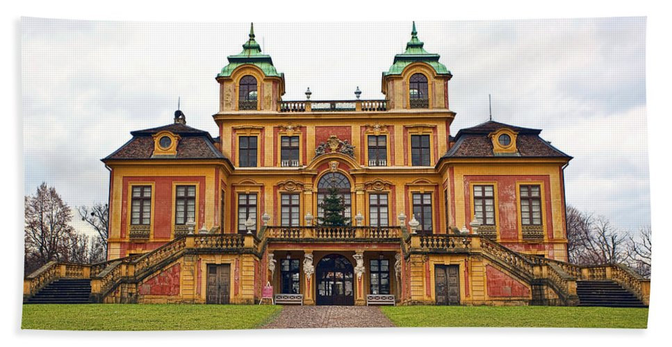 Architecture Beach Towel featuring the photograph Schloss Favorite by Marcia Colelli