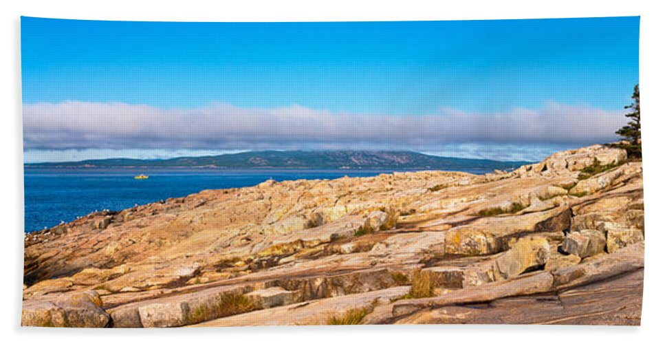 Acadia National Park Beach Towel featuring the photograph Schoodic Point 5862 by Brent L Ander