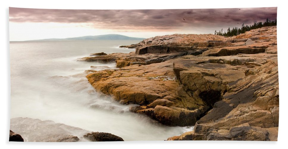 Landscape Beach Towel featuring the photograph Schoodic Point 6041 by Brent L Ander
