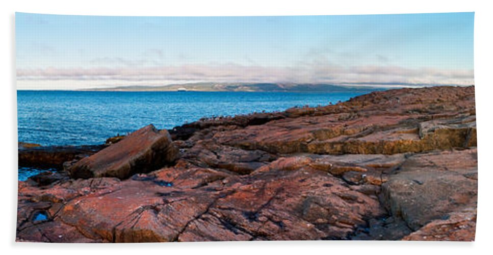 Acadia National Park Beach Towel featuring the photograph Schoodic Point 8414 by Brent L Ander