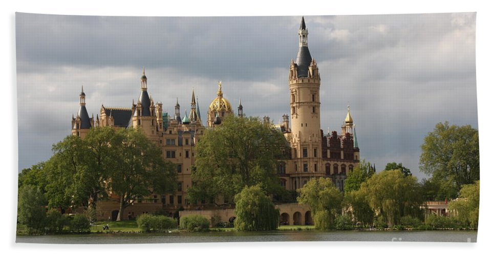 Schwerin Beach Towel featuring the photograph Schwerin Palace - Germany by Christiane Schulze Art And Photography