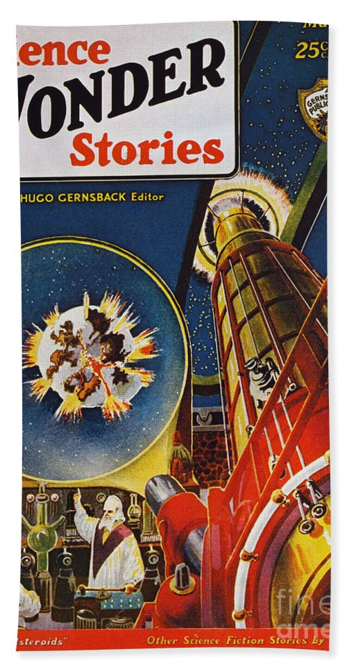 1930 Beach Towel featuring the photograph Sci-fi Magazine Cover, 1930 by Granger