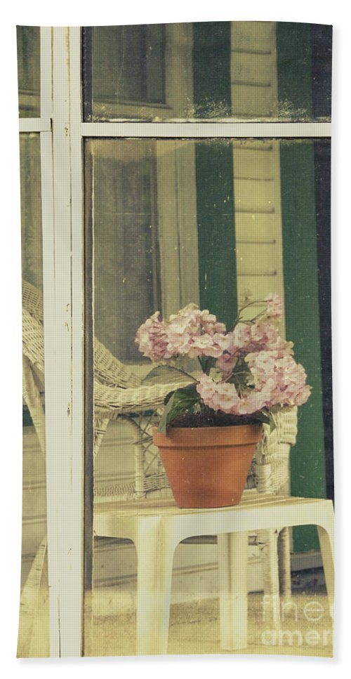 Chair Beach Towel featuring the photograph Screened Porch by Margie Hurwich