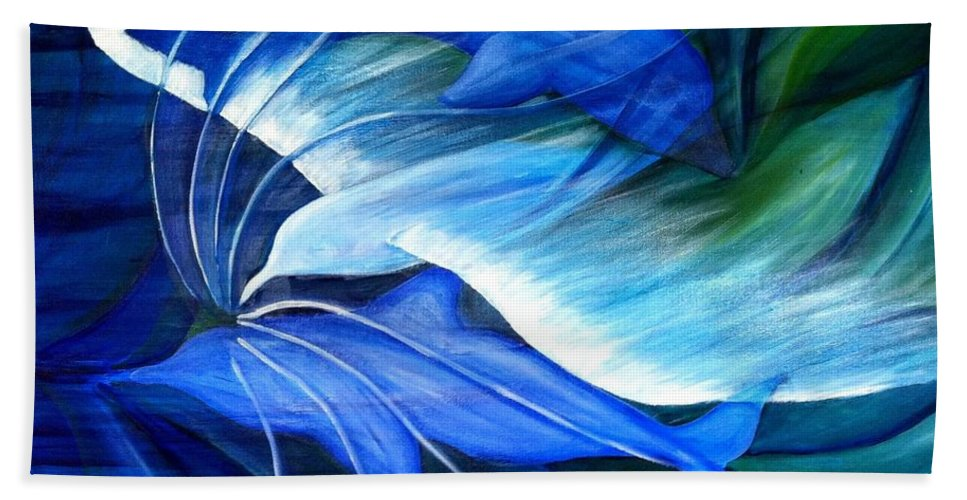 Birds Beach Towel featuring the painting Sea And Sky by Ellis Burgess