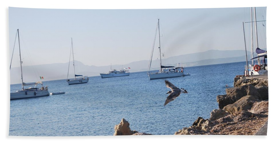 Sea Gull Beach Towel featuring the photograph Sea Gull 2 by George Katechis