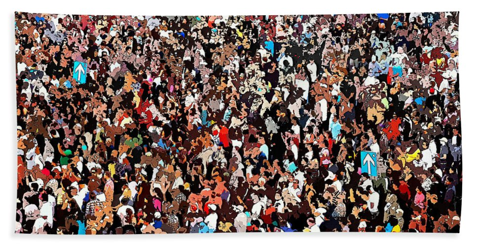 Sea Of People Beach Towel featuring the photograph Sea Of People by Glenn McCarthy Art and Photography