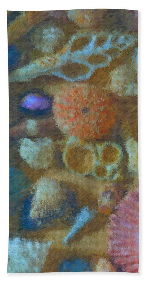 Sea Shells Beach Towel featuring the mixed media Sea Shells by Tom Druin