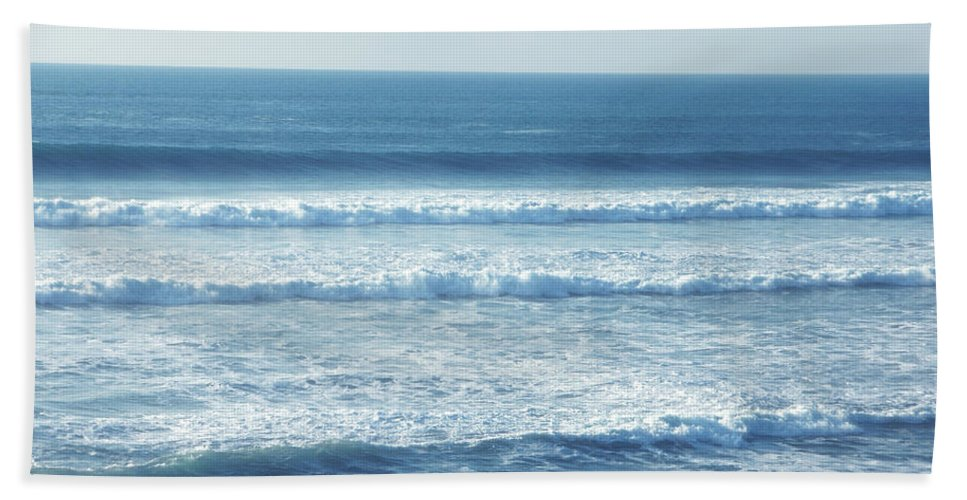 Sea Beach Towel featuring the photograph Seaside Blue by Donna Blackhall