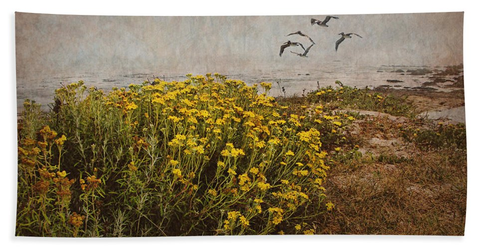 Seaside Beach Towel featuring the photograph Seaside Sun by Nikolyn McDonald