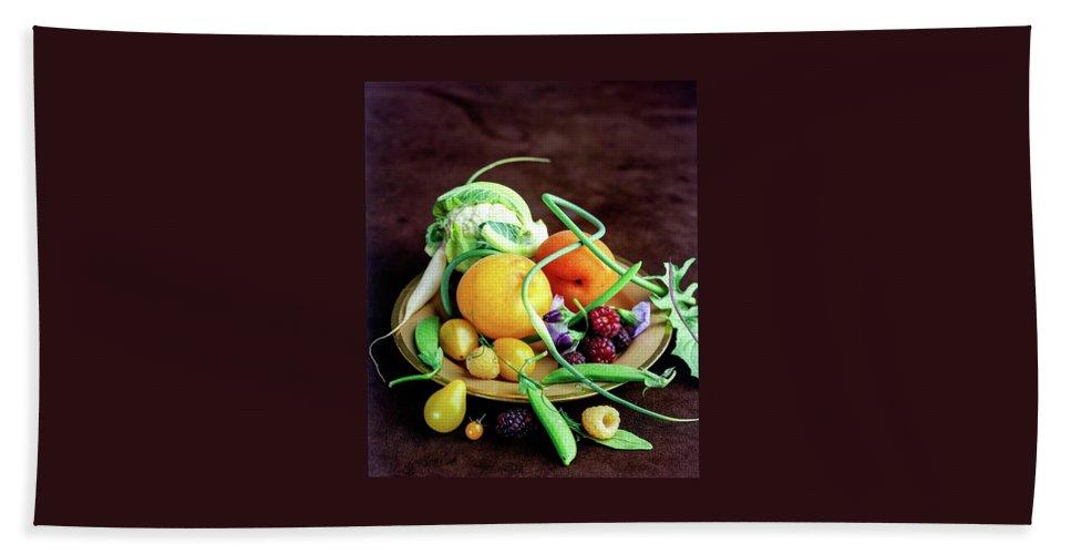 Seasonal Fruit And Vegetables Beach Towel