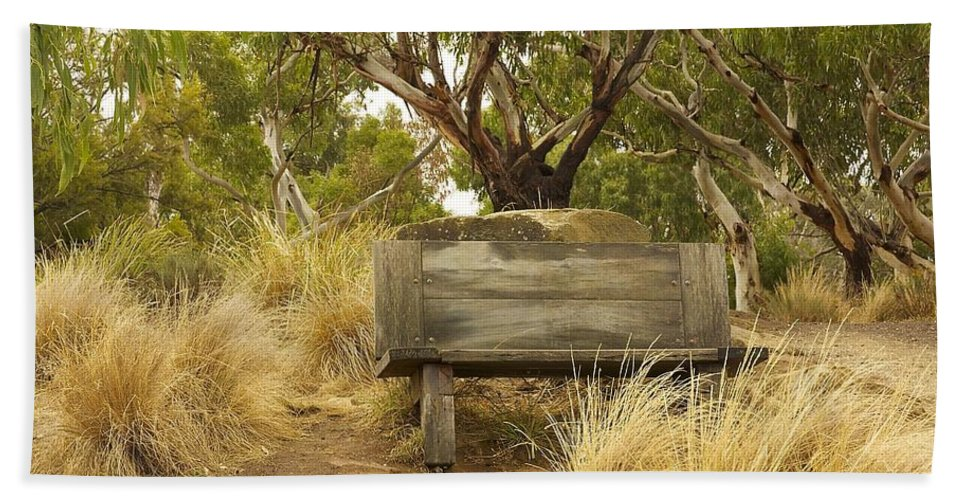 Australia Beach Towel featuring the photograph Secluded Bench by Stuart Litoff