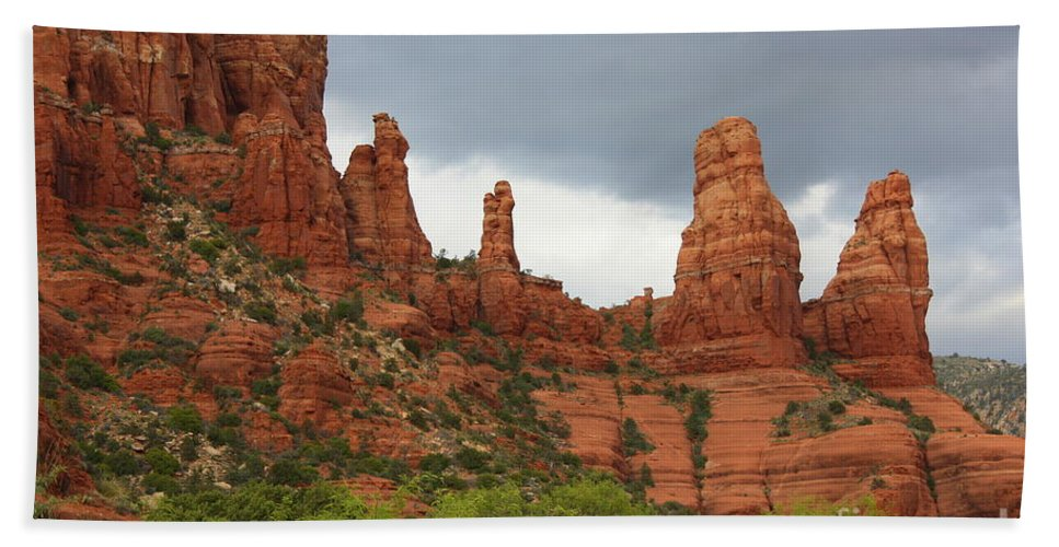 Sandstone Beach Towel featuring the photograph Sedona Sandstone by Carol Groenen