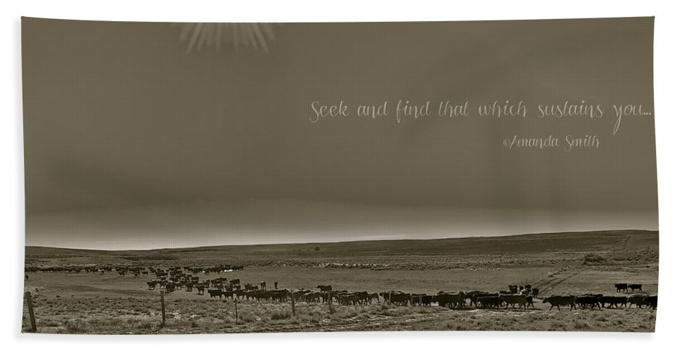Cattle Beach Towel featuring the photograph Seek And Find by Amanda Smith