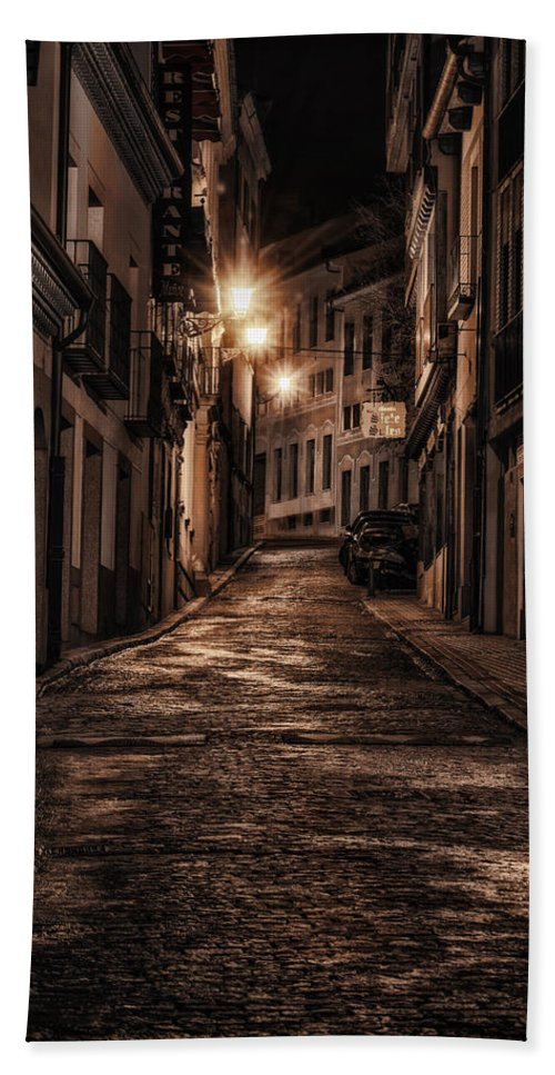 Joan Carroll Beach Towel featuring the photograph Segovia Predawn by Joan Carroll